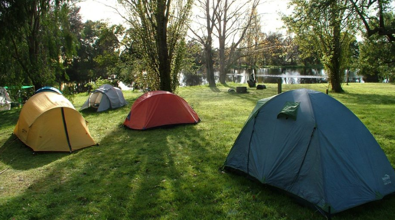 Camping site in Australia
